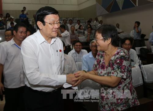 Chủ tịch nước tiếp xúc cử tri TP Hồ Chí Minh - Ảnh 1