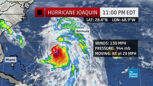 Mỹ ban bố tình trạng khẩn cấp tại Bờ Đông do bão Joaquin - Ảnh 1