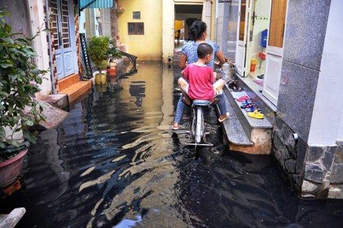 Người Sài Gòn lại khổ sở dọn bùn đen do mưa lớn - Ảnh 5