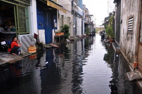 Người Sài Gòn lại khổ sở dọn bùn đen do mưa lớn - Ảnh 2