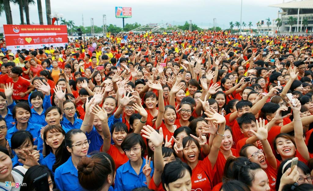 12.000 bạn trẻ xếp hình bản đồ Việt Nam - Ảnh 9