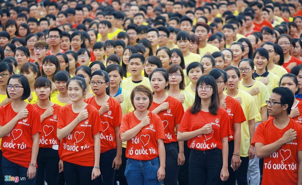 12.000 bạn trẻ xếp hình bản đồ Việt Nam - Ảnh 3