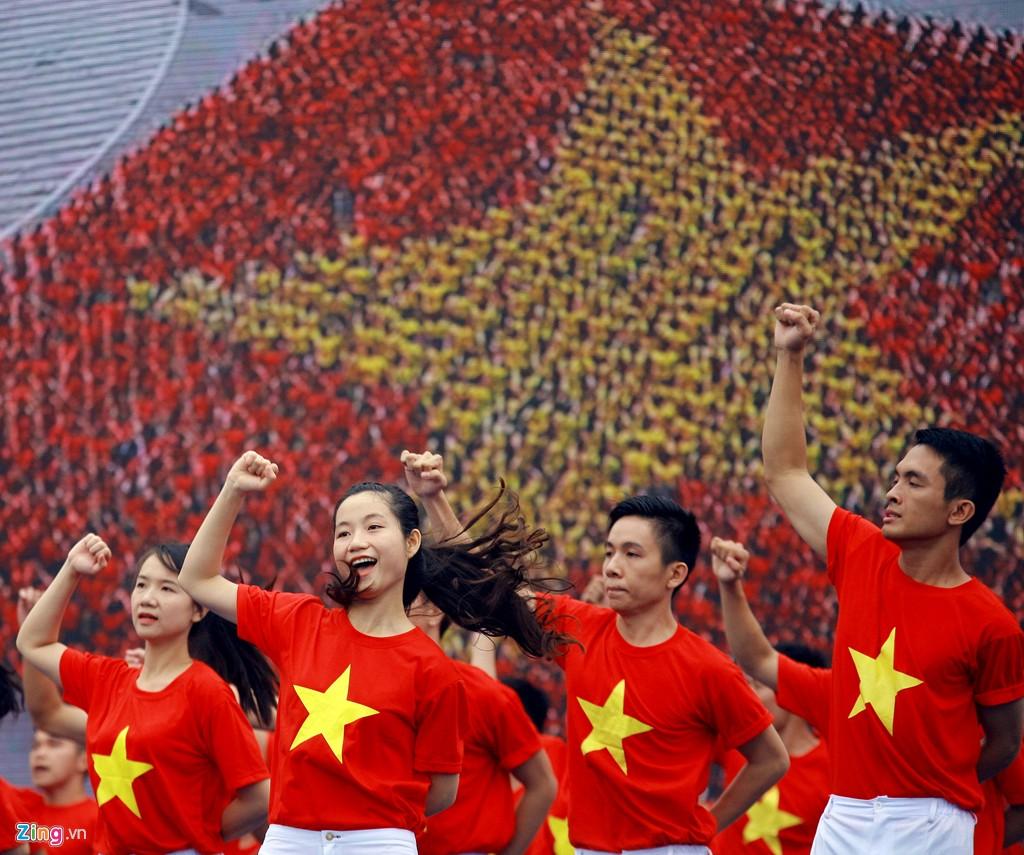 12.000 bạn trẻ xếp hình bản đồ Việt Nam - Ảnh 6