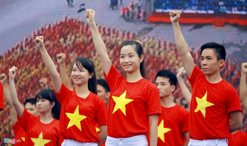 12.000 bạn trẻ xếp hình bản đồ Việt Nam - Ảnh 7