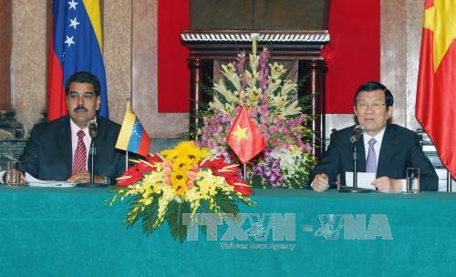 Chủ tịch nước Trương Tấn Sang hội đàm với Tổng thống Venezuela - Ảnh 1