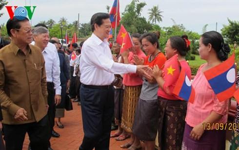 Thủ tướng dự lễ khởi công dự án đầu tư lớn nhất của Việt Nam tại Lào - Ảnh 4