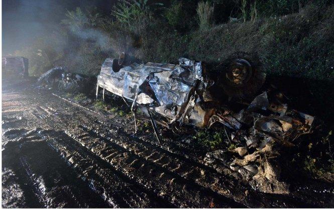 Thảm nạn đèo Đá Trắng: Giám định ADN hai nạn nhân bị cháy xém - Ảnh 1