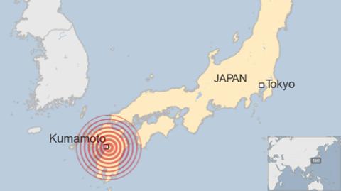Đường phố miền nam nước Nhật nứt toác sau trận động đất thứ 2 - Ảnh 2