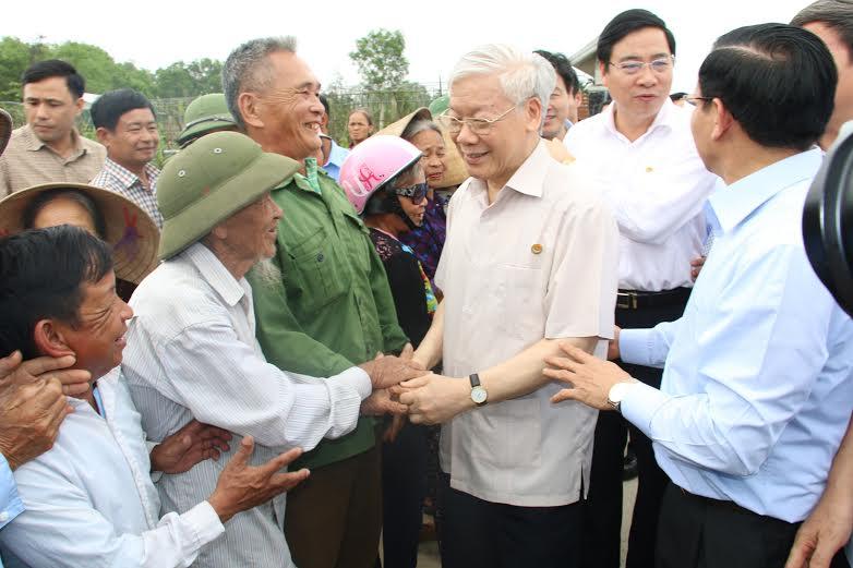 Tổng Bí thư Nguyễn Phú Trọng thăm khu dân cư mẫu và dự án Formosa - Ảnh 3