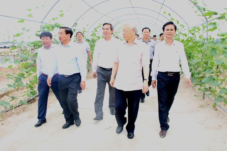 Tổng Bí thư Nguyễn Phú Trọng thăm khu dân cư mẫu và dự án Formosa - Ảnh 2
