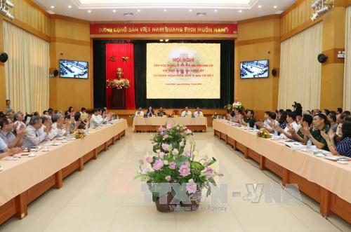 Tổng Bí thư Nguyễn Phú Trọng vận động bầu cử tại Hà Nội - Ảnh 1