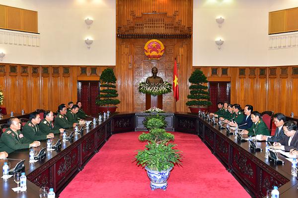 Thủ tướng tiếp Tổng Tham mưu trưởng QĐND Lào - Ảnh 1