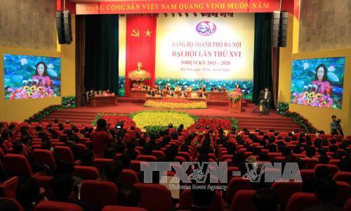 Bế mạc Đại hội Đại biểu Đảng bộ thành phố Hà Nội - Ảnh 1