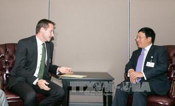 Phó Thủ tướng Phạm Bình Minh gặp Ngoại trưởng Bulgaria, Đan Mạch - Ảnh 2