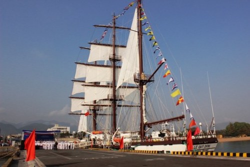 Lễ thượng cờ tàu buồm hiện đại nhất của Hải quân Việt Nam - Ảnh 1