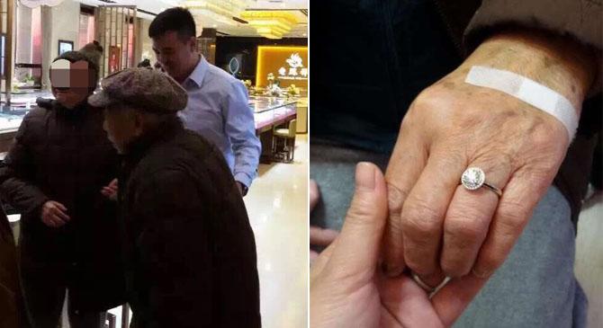 Ngưỡng mộ cụ ông 88 tuổi mua tặng vợ nhẫn kim cương gần 200 triệu - Ảnh 1