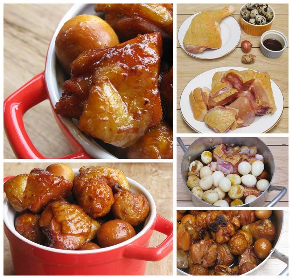 Gà kho trứng cút thơm ngon cho bữa cơm tối - Ảnh 1