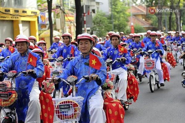 100 cặp uyên ương tham gia đám cưới tập thể trên đường phố Sài Gòn - Ảnh 6