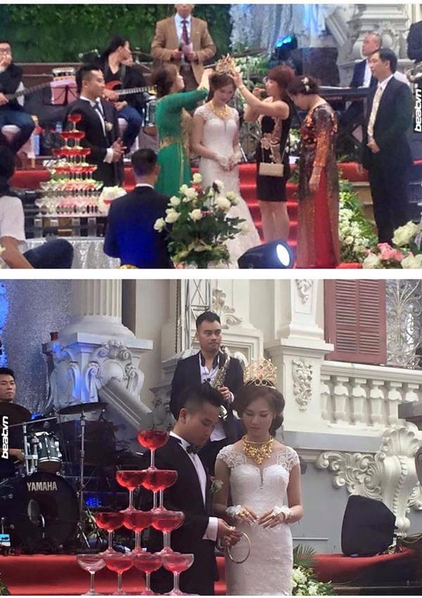 Đám cưới ở Nam Định, cô dâu được mẹ chồng trao vương miện trị giá trăm cây vàng - Ảnh 1