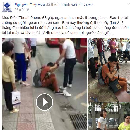 'Soái ca' bắt thanh niên trộm Iphone 6S ở bến xe buýt Hà Nội - Ảnh 1