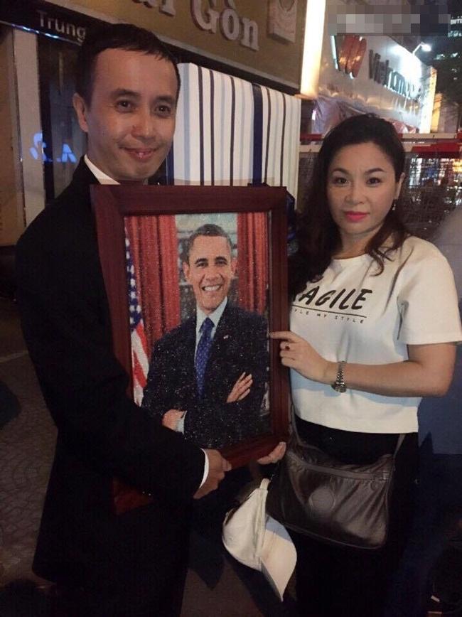 Dân mạng ngưỡng mộ chàng trai trẻ thức 2 đêm vẽ tranh tặng Tổng thống Obama - Ảnh 4