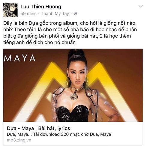 Bị tố đạo nhạc, Maya im lặng, Lưu Thiên Hương phản pháo - Ảnh 8