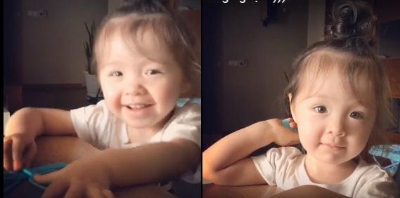 """""""Cười nghiêng ngả"""" với clip Cadie ríu rít cùng mẹ Elly Trần trêu đùa ông ngoại - Ảnh 1"""