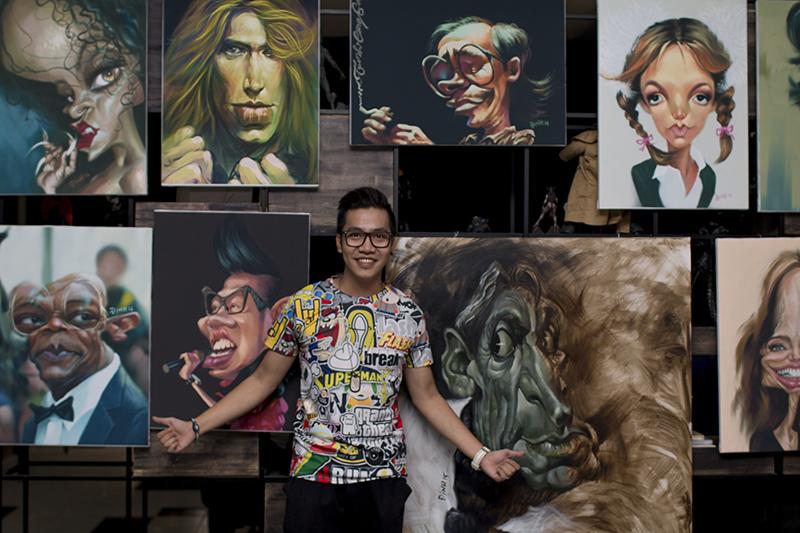 Nghệ sĩ  Việt thích thú với tranh hí họa về chính mình - Ảnh 6