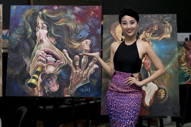 Nghệ sĩ  Việt thích thú với tranh hí họa về chính mình - Ảnh 5