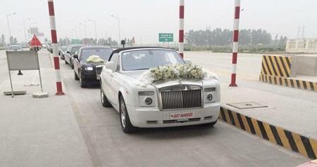 """Đám cưới Á hậu Trà My tràn ngập siêu xe """"khủng"""" - Ảnh 6"""
