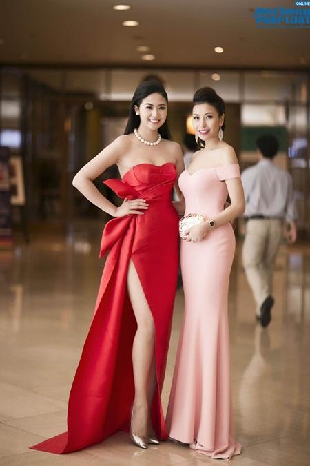 Hoa hậu Ngọc Hân gợi cảm tỏa sáng với váy tự thiết kế - Ảnh 7
