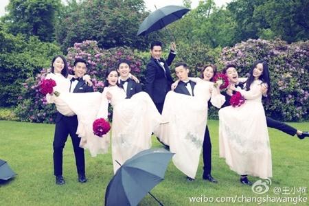 Đám cưới hội tụ dàn mỹ nam mỹ nữ Hoa ngữ của Viên Hoằng - Trương Hâm Nghệ - Ảnh 10