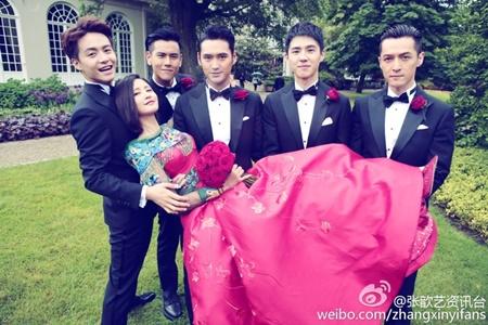 Đám cưới hội tụ dàn mỹ nam mỹ nữ Hoa ngữ của Viên Hoằng - Trương Hâm Nghệ - Ảnh 3