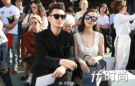 Vợ chồng Angelababy - Huỳnh Hiểu Minh cực ngầu tại Paris Fashion Week - Ảnh 6