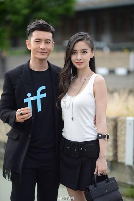 Vợ chồng Angelababy - Huỳnh Hiểu Minh cực ngầu tại Paris Fashion Week - Ảnh 7