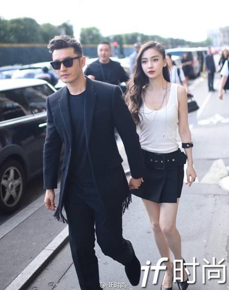 Vợ chồng Angelababy - Huỳnh Hiểu Minh cực ngầu tại Paris Fashion Week - Ảnh 2