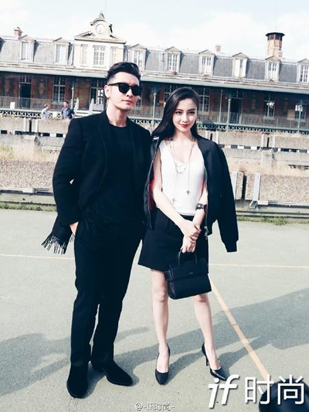 Vợ chồng Angelababy - Huỳnh Hiểu Minh cực ngầu tại Paris Fashion Week - Ảnh 9