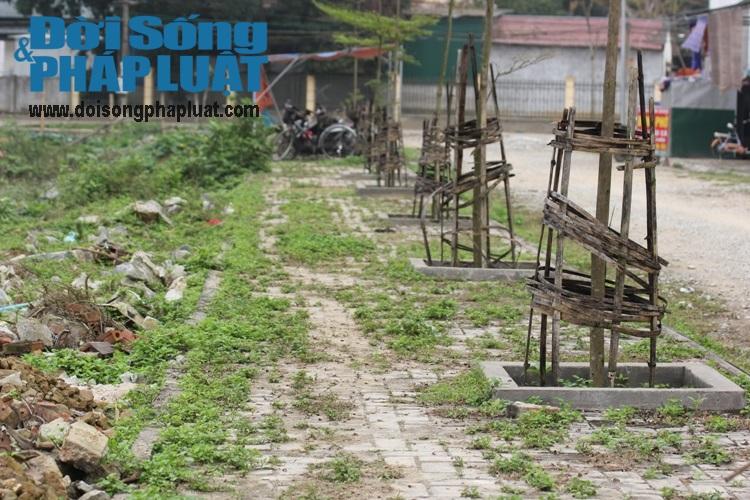 Nghệ An: Dự án trọng điểm phố núi 6 năm lát xong gạch vỉa hè - Ảnh 3