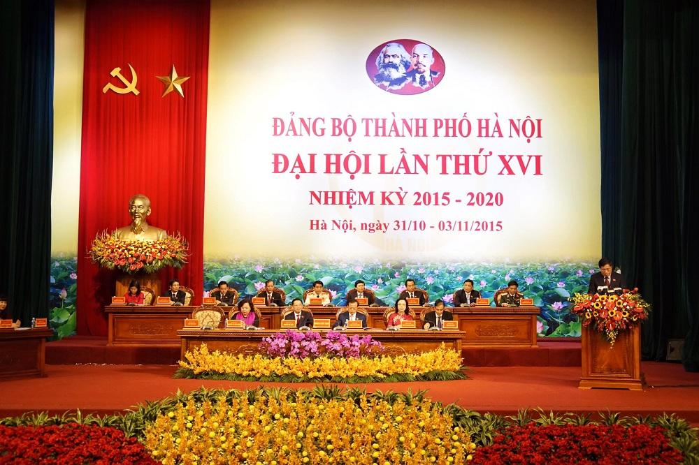 Khai mạc Đại hội Đảng bộ TP Hà Nội lần thứ XVI  - Ảnh 1