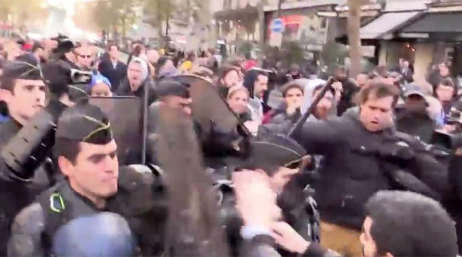 Paris: Người tị nạn biểu tình bất chấp lệnh cấm của Chính phủ - Ảnh 1