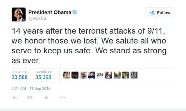 Tổng thống Obama mặc niệm gần 3.000 nạn nhân vụ 11/9 - Ảnh 3
