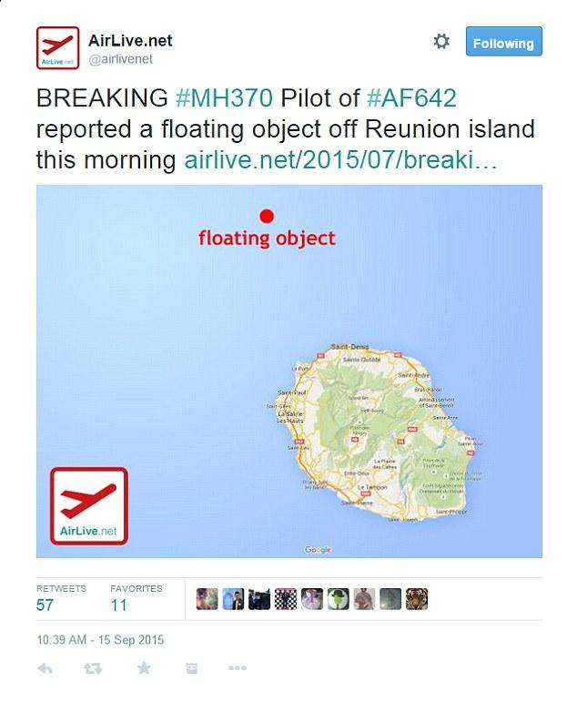 Tiếp tục phát hiện vật thể gần đảo Reunion nghi của máy bay MH370 - Ảnh 1