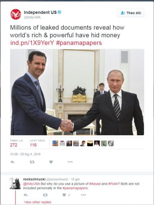 """Công chúng chỉ trích phương Tây đăng ảnh ông Putin liên quan tới """"Hồ sơ Panama"""" - Ảnh 2"""