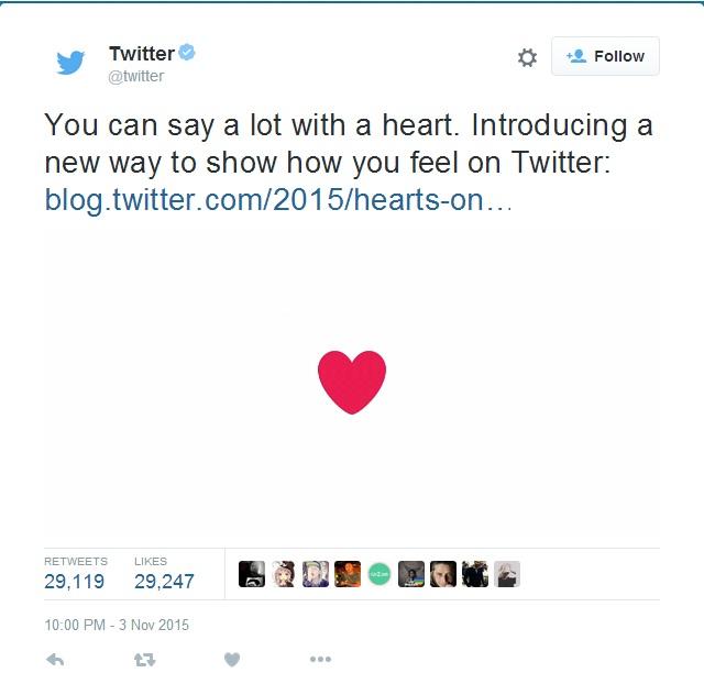 """Twitter hứng chịu phản ứng dữ dội khi thay đổi nút """"Favorite"""" - Ảnh 1"""