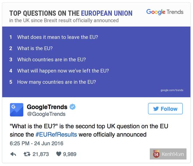 Sau khi rời khỏi EU, người dân Anh tìm gì trên Google? - Ảnh 2