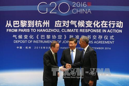 Mỹ, Trung Quốc chính thức tham gia Hiệp định Paris - Ảnh 1