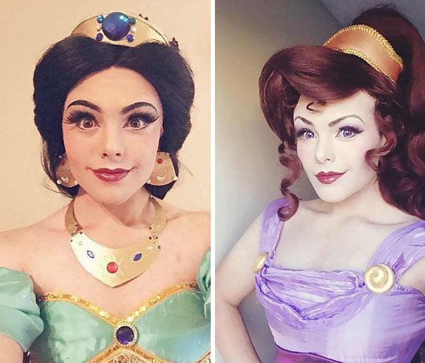 Kỹ năng trang điểm thành công chúa siêu đẳng của chàng trai fan Disney - Ảnh 3