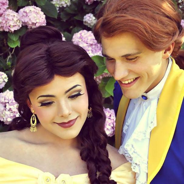 Kỹ năng trang điểm thành công chúa siêu đẳng của chàng trai fan Disney - Ảnh 5