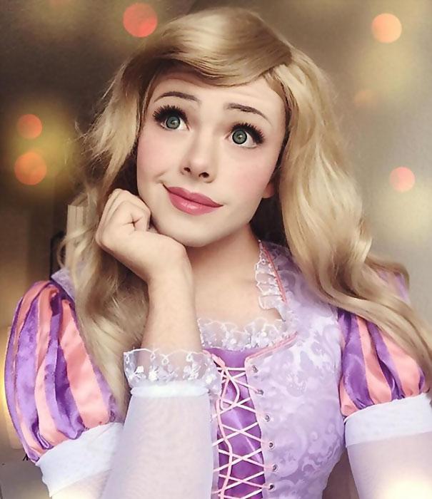 Kỹ năng trang điểm thành công chúa siêu đẳng của chàng trai fan Disney - Ảnh 6