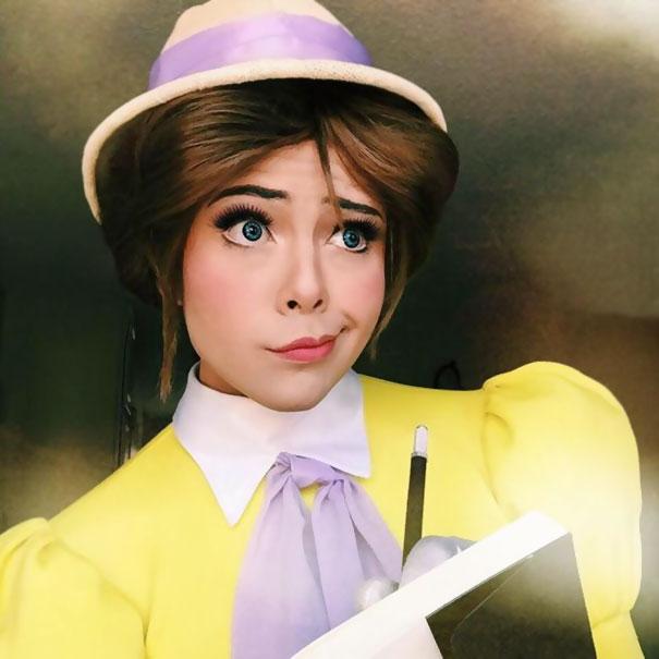 Kỹ năng trang điểm thành công chúa siêu đẳng của chàng trai fan Disney - Ảnh 8